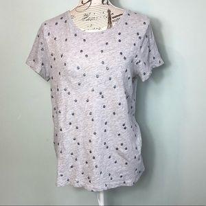 Boden glitter polka dot t-shirt size 8 gray